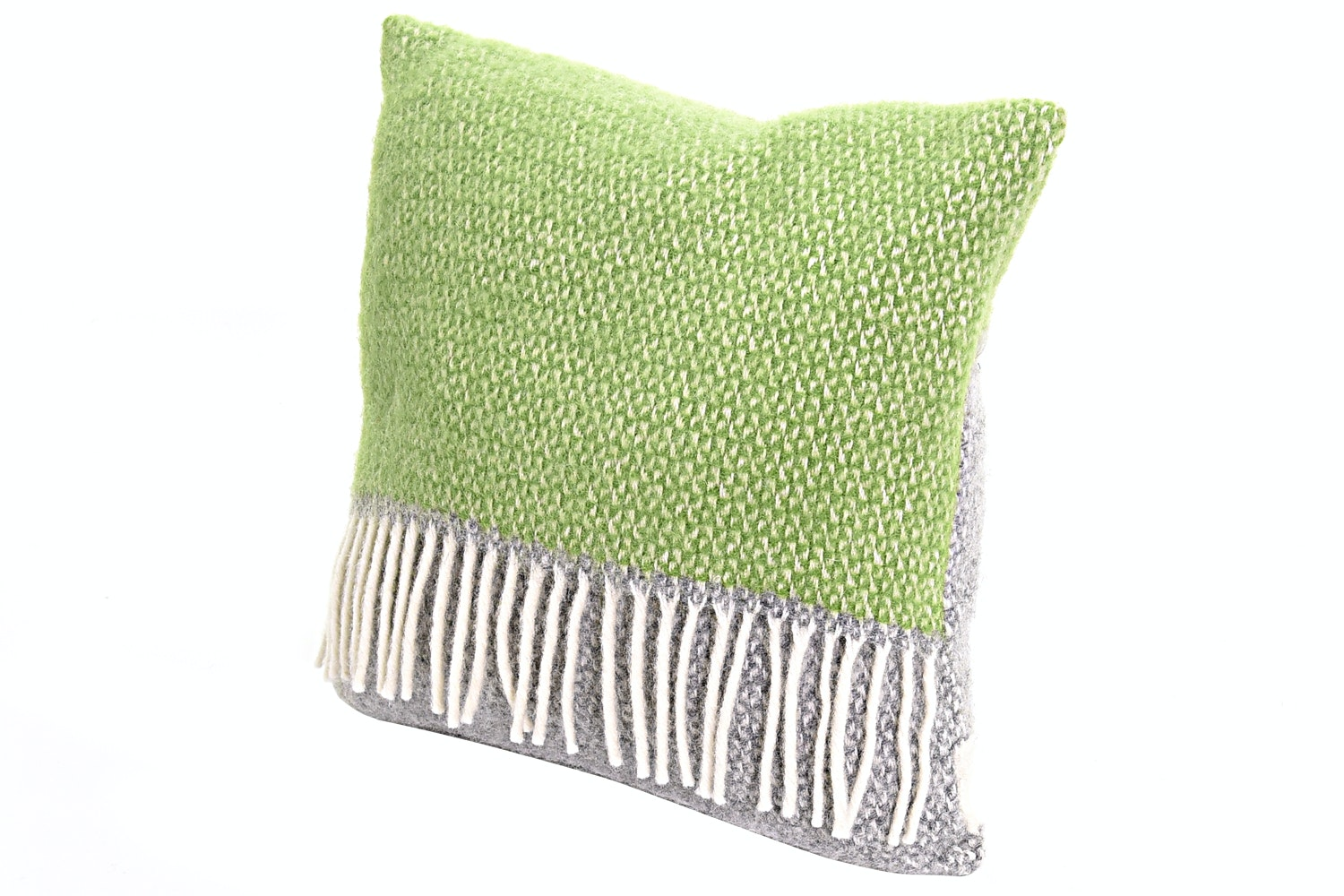 Illusion Panel Cushion Grey/Green