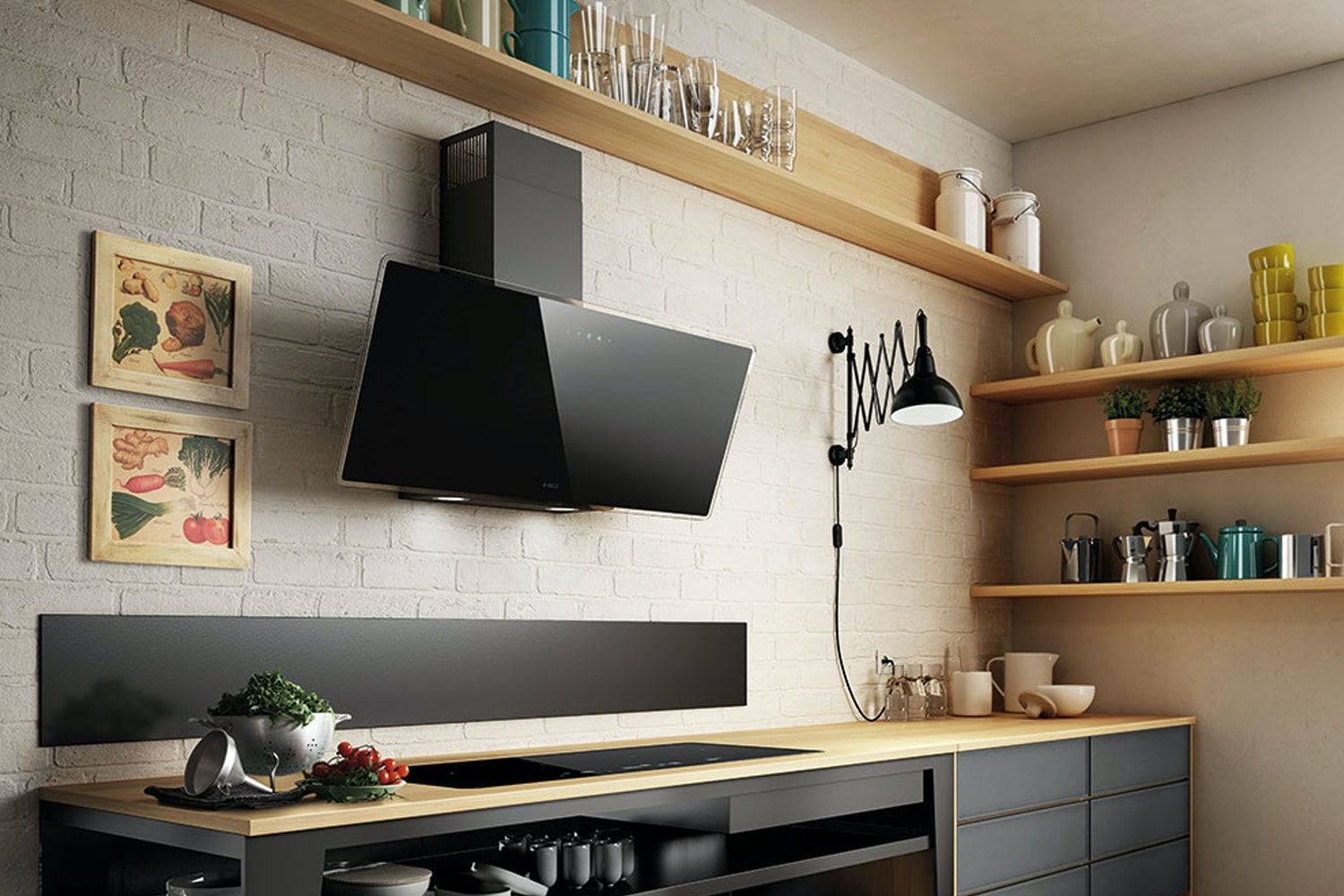 Elica 90cm Wall Mounted Hood | SHIRE90BL