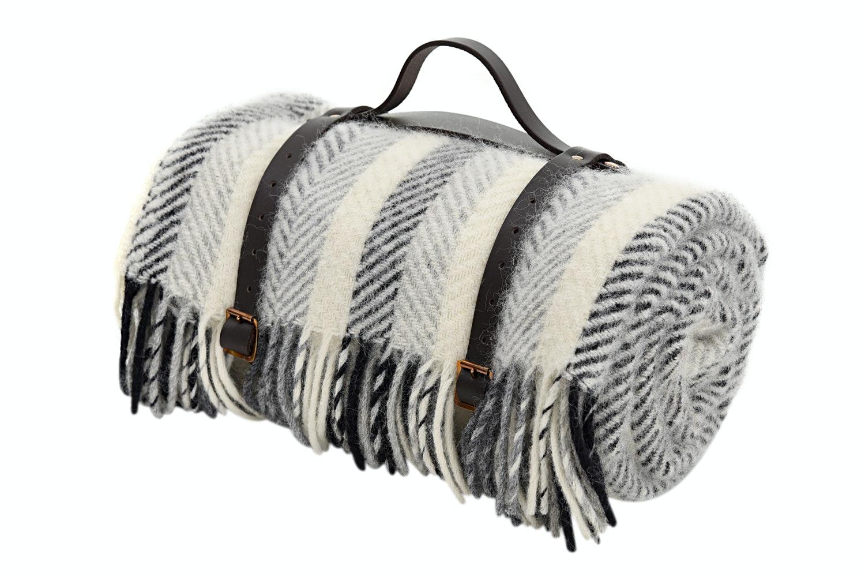 Polo Picnic Rug Fabric Strap Monochrome