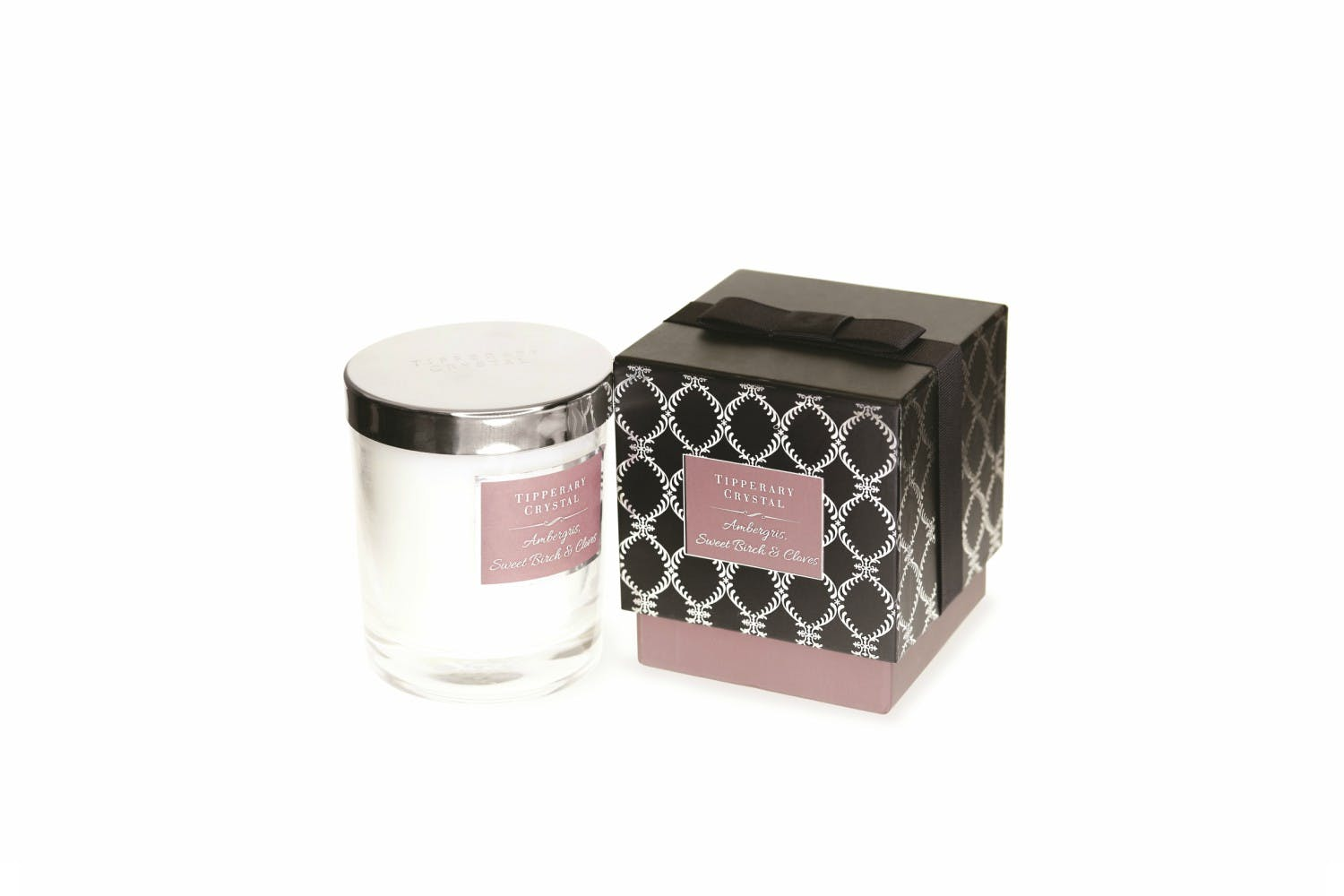 Tipperary Crystal Luxury Candle | Ambergris Sweet Birch & Clove