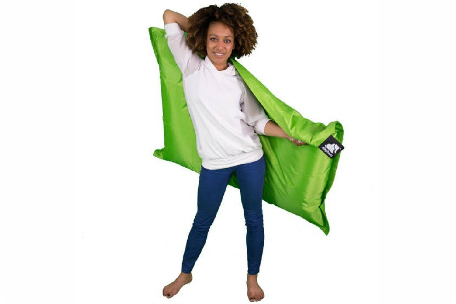 Elephant Junior Bean Bag | Zingy Lime