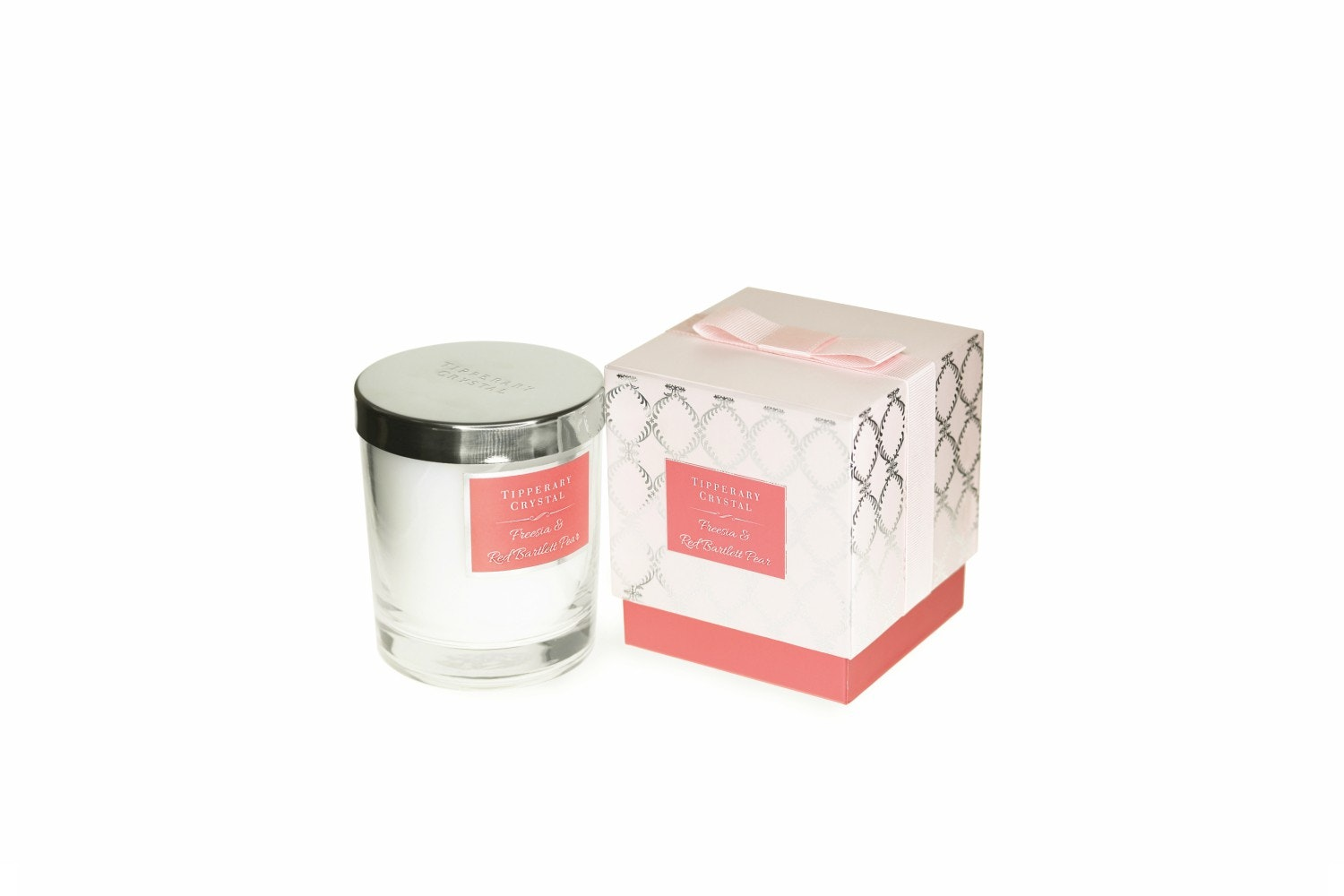 Tipperary Crystal Luxury Candle | Freesia & Red Bartlett Pear