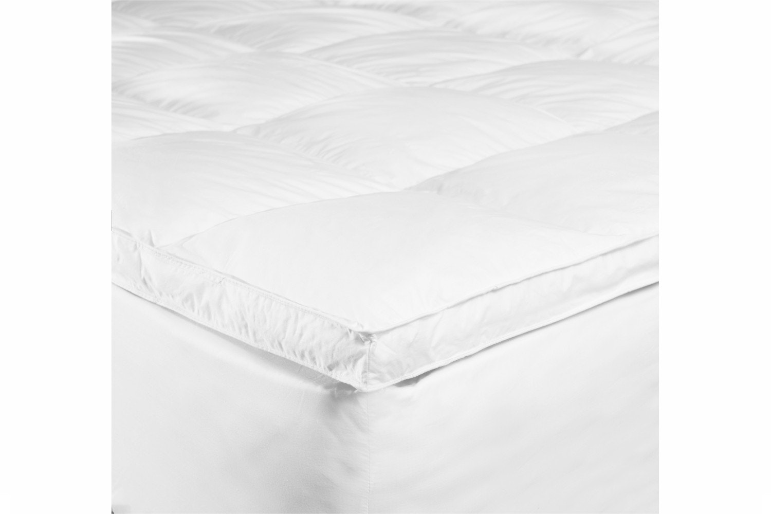 The Linen Room White Goose Feather & Down Topper | King