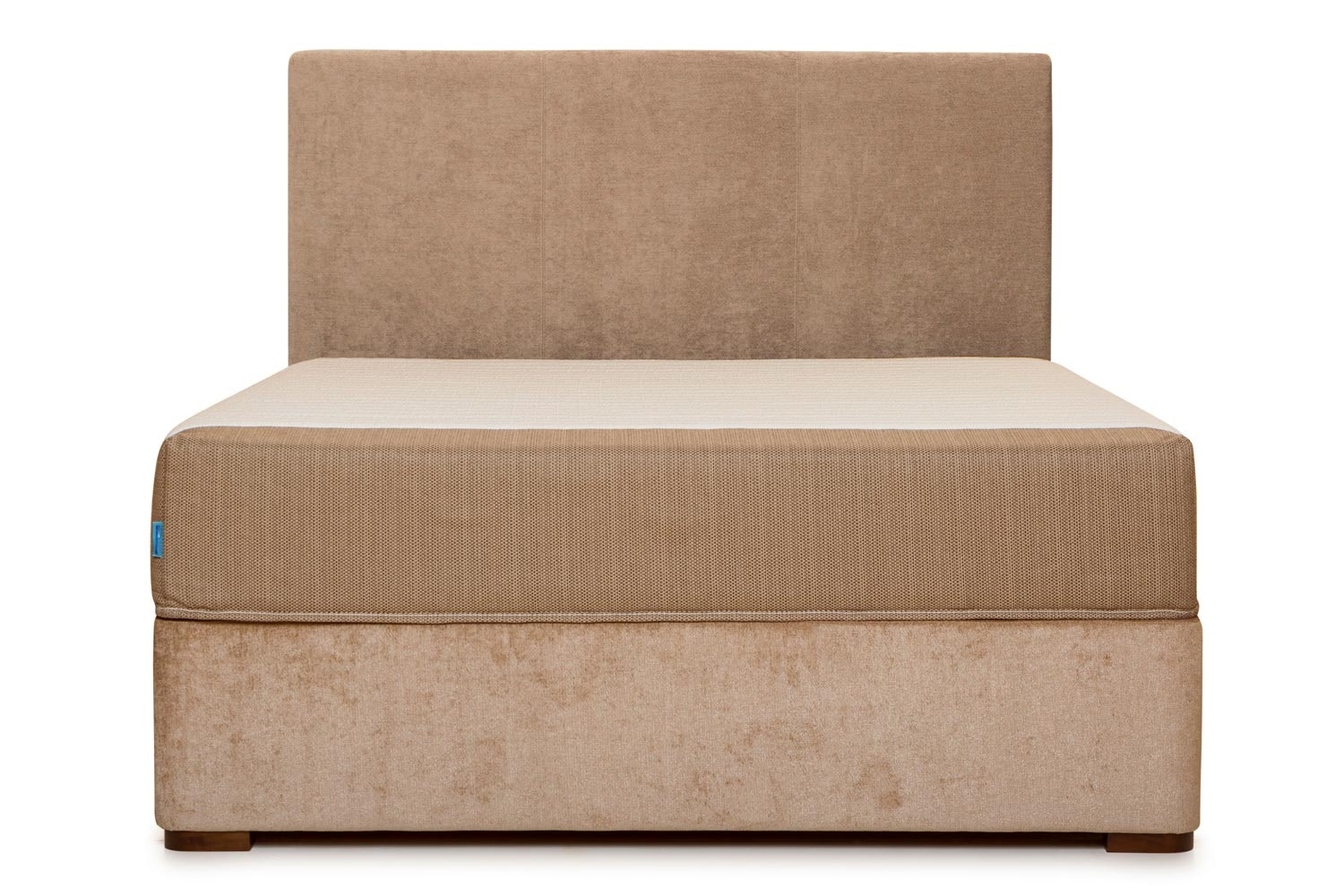 Duval Bed | Vertical Stitch | Mink | 6ft