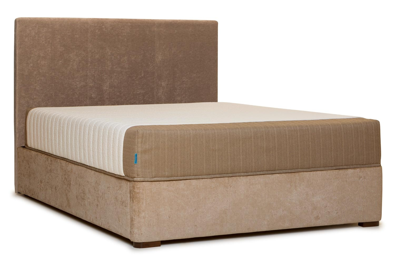 Duval Bed | Vertical Stitch | Mink | 5ft