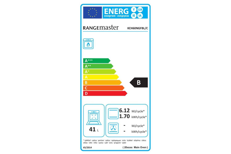 Rangemaster Kitchener Gas Cooker | KCH60NGFBL/C