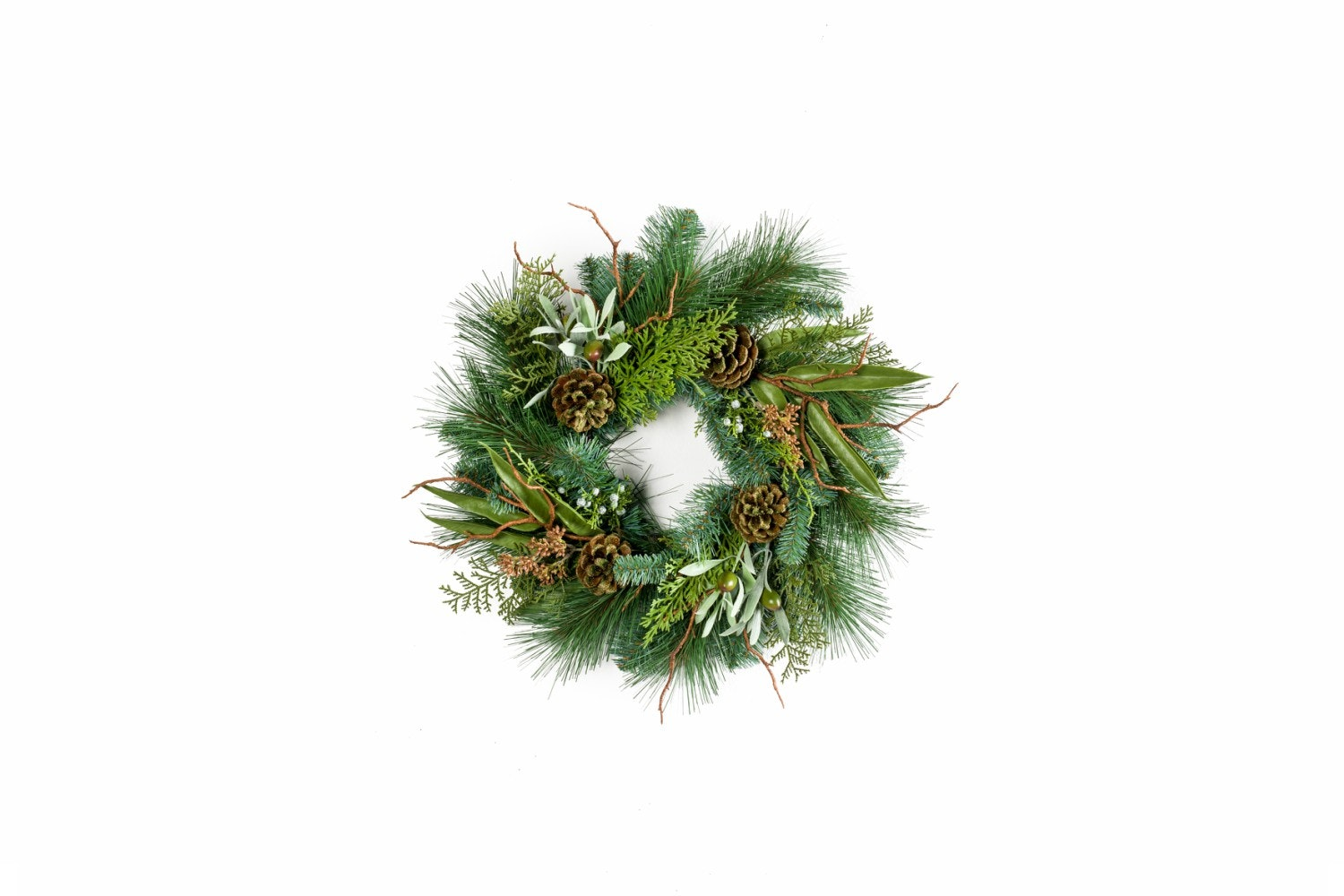 Mix Pine Olive Wreath | Green