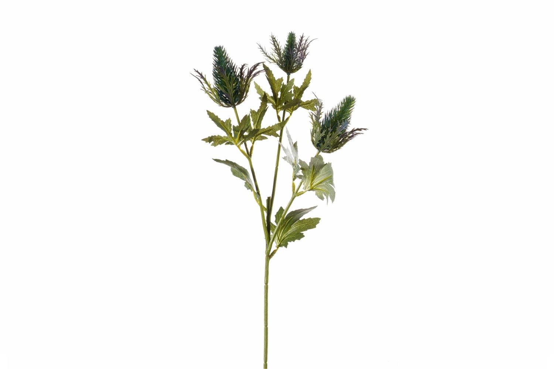 Eryngium Spray with 3 Blue Flowers