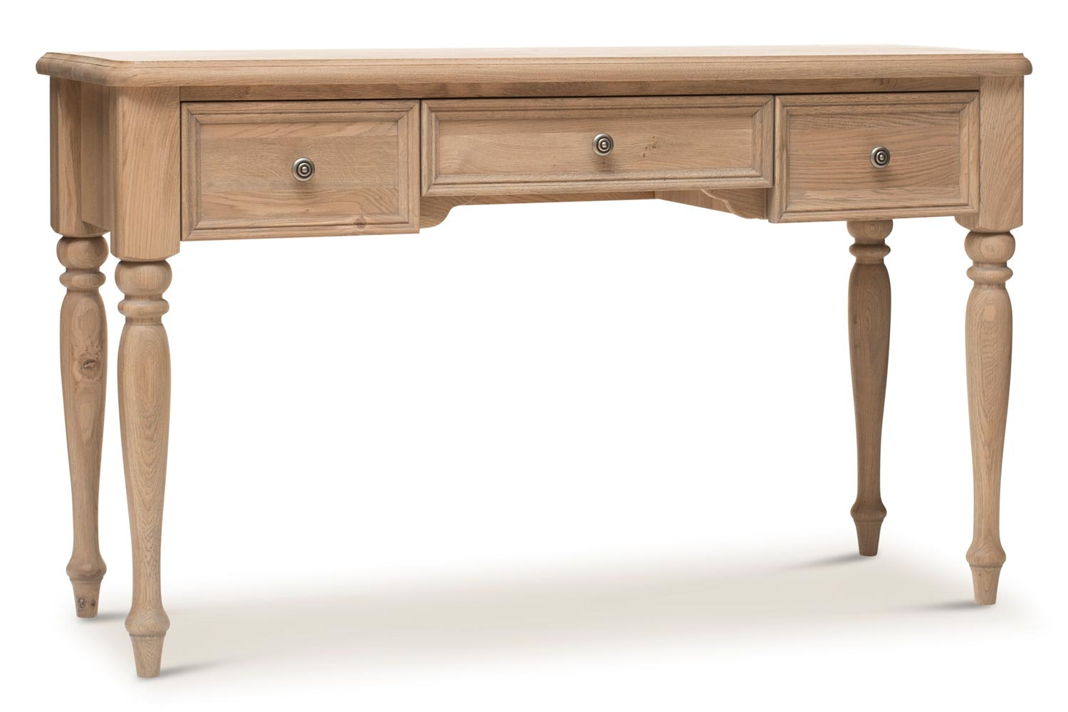 Hunter Dressing Table 3 Drawer | Smoked Oak