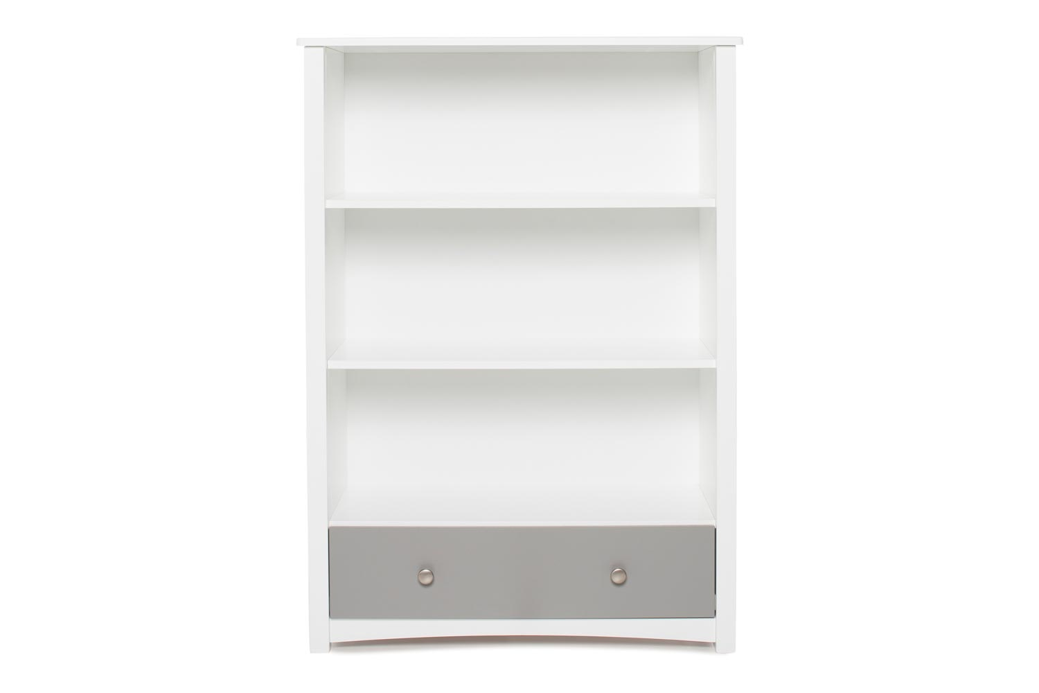 Urban Bookcase 1 Drawer | Medium | White & Dove Grey