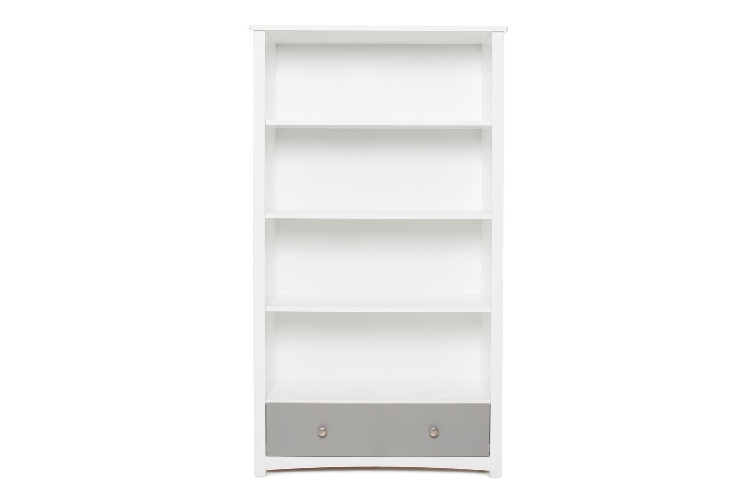 Urban Bookcase 1 Drawer | Tall | White & Dove Grey