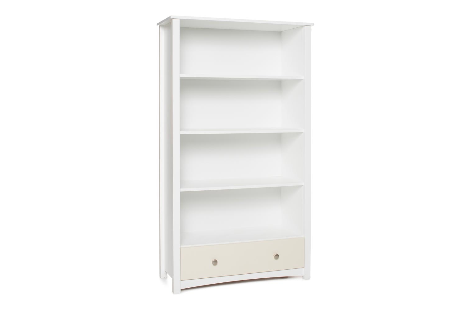 Urban Bookcase 1 Drawer | Tall | White & Cream