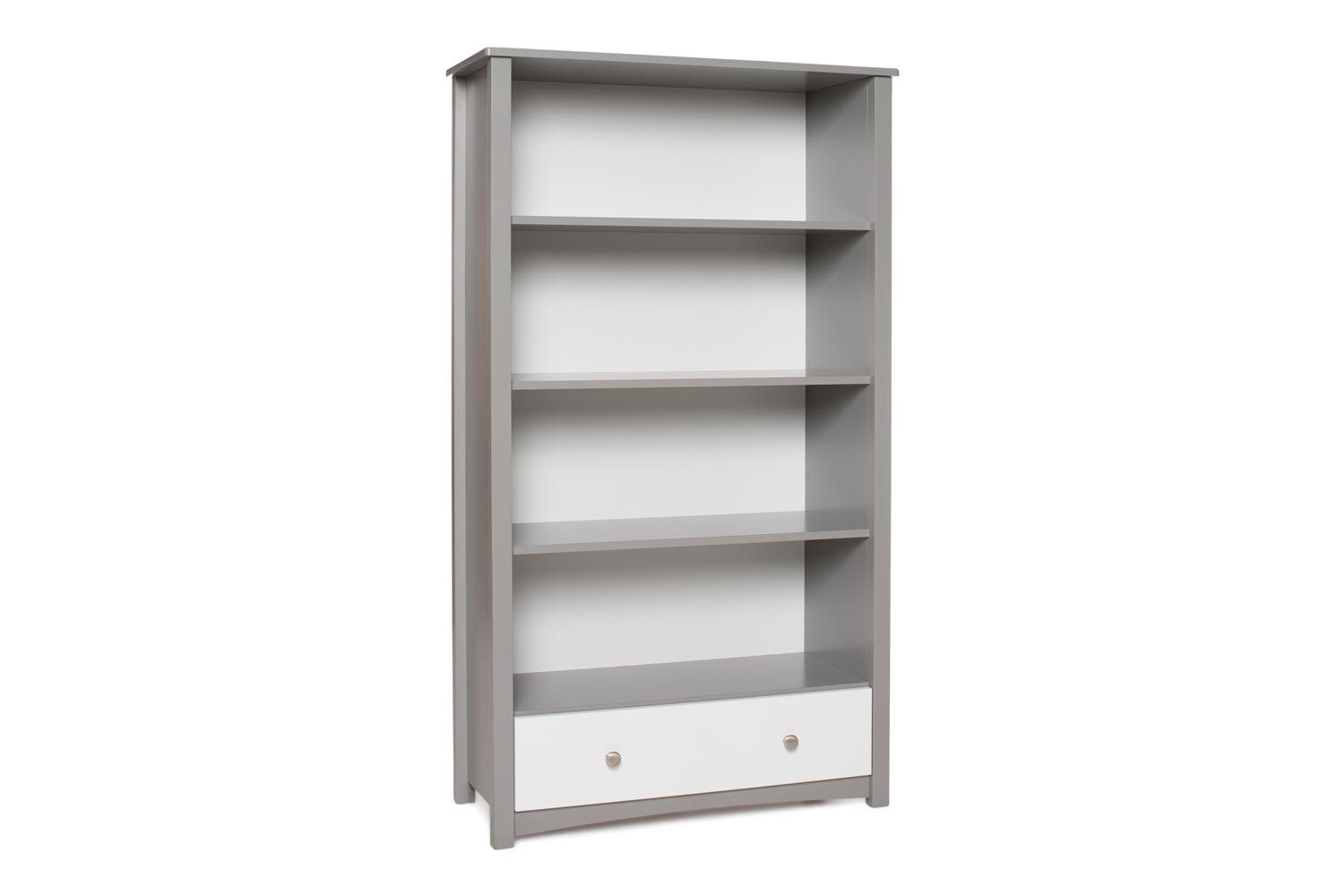 Urban Bookcase 1 Drawer |Tall| Dove Grey & White