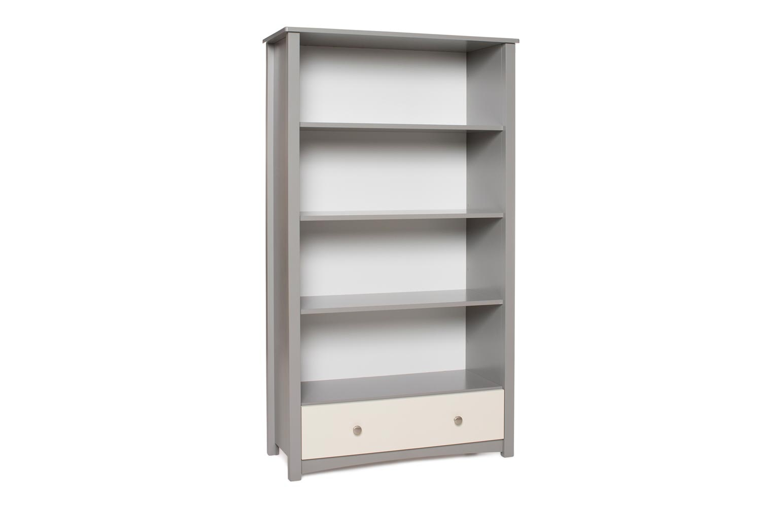 Urban Bookcase 1 Drawer |Tall| Dove Grey & Cream