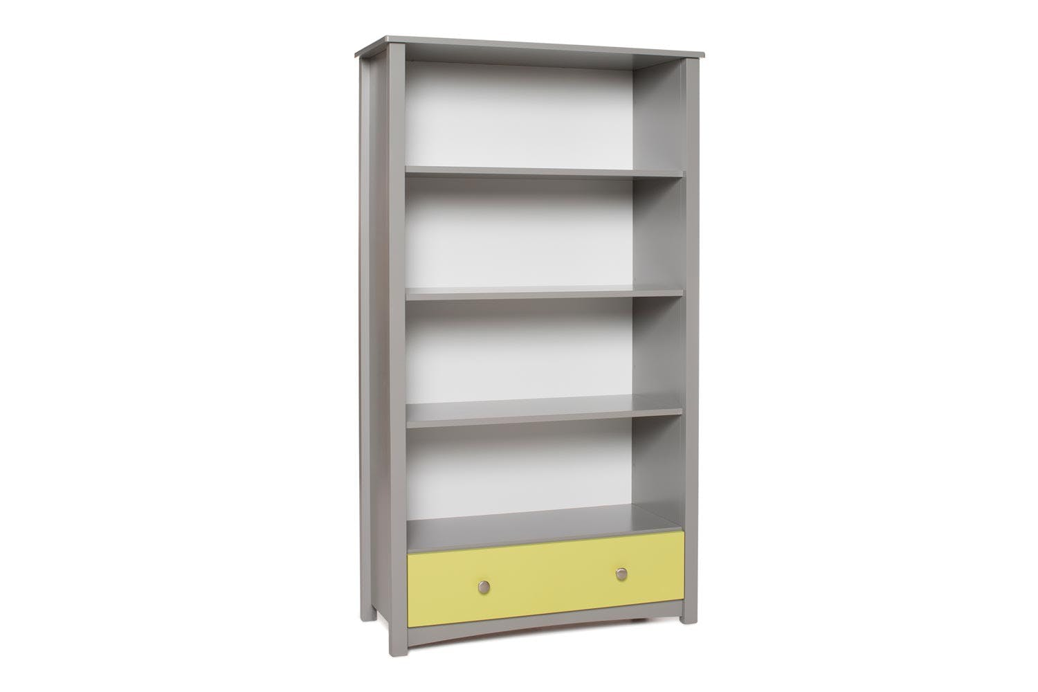 Urban Bookcase 1 Drawer | Tall | Dove Grey & Green