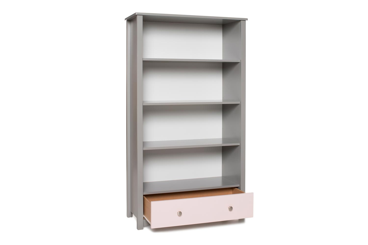 Urban Bookcase 1 Drawer |Tall| Dove Grey & Pink