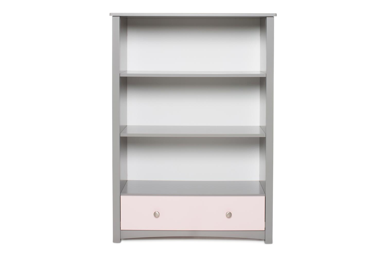 Urban Bookcase 1 Drawer | Medium | Dove Grey & Pink