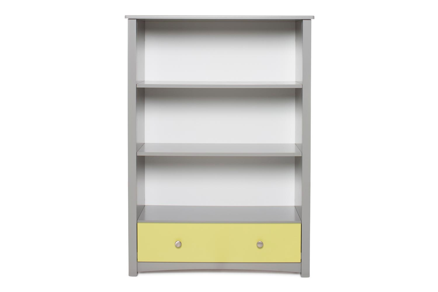 Urban Bookcase 1 Drawer | Medium | Dove Grey & Green
