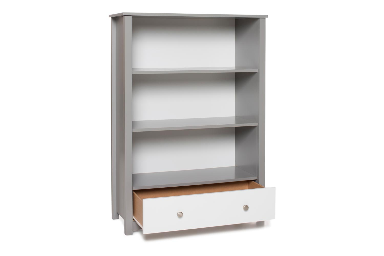 Urban Bookcase 1 Drawer | Medium | Dove Grey & White