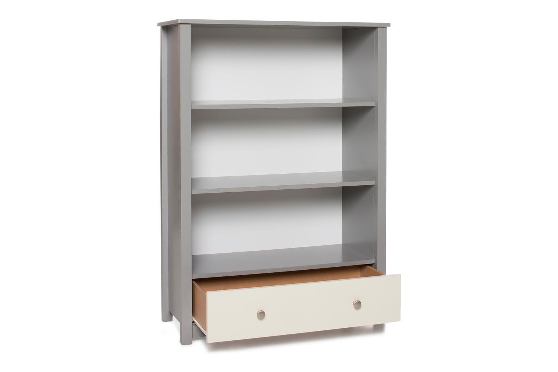 Urban Bookcase 1 Drawer | Medium | Dove Grey & Cream