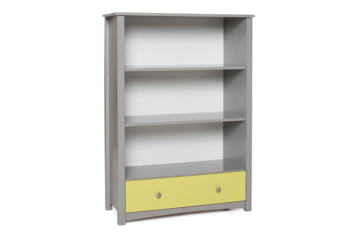 Urban Bookcase 1 Drawer |Medium| Dove Grey & Green
