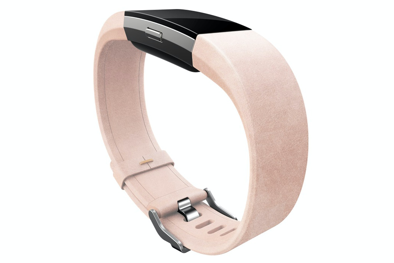 Fitbit Charge 2 Accessory Band Leather Band Pink Large