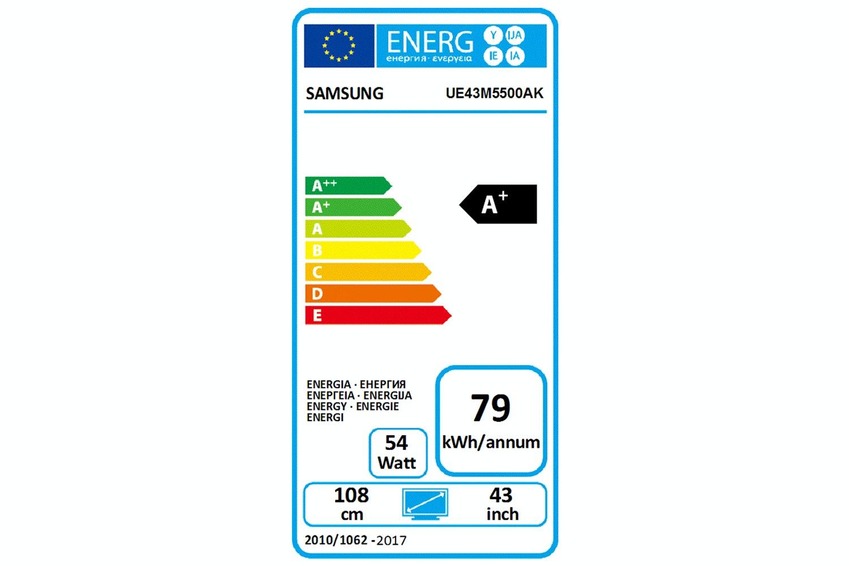 "Samsung 43"" Full HD LED Smart TV | UE43M5500AKXXU"