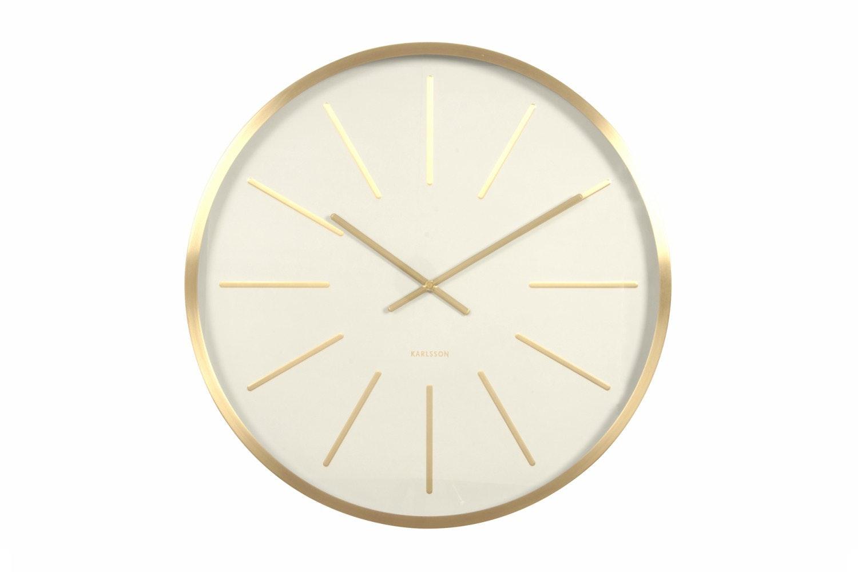 Maxiemus Brass Station Wall Clock | White