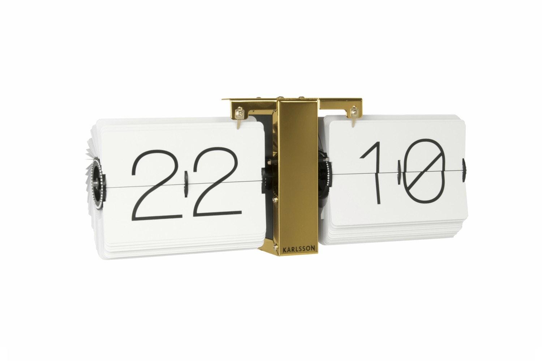 White Brass Stand Flip Clock | No Case