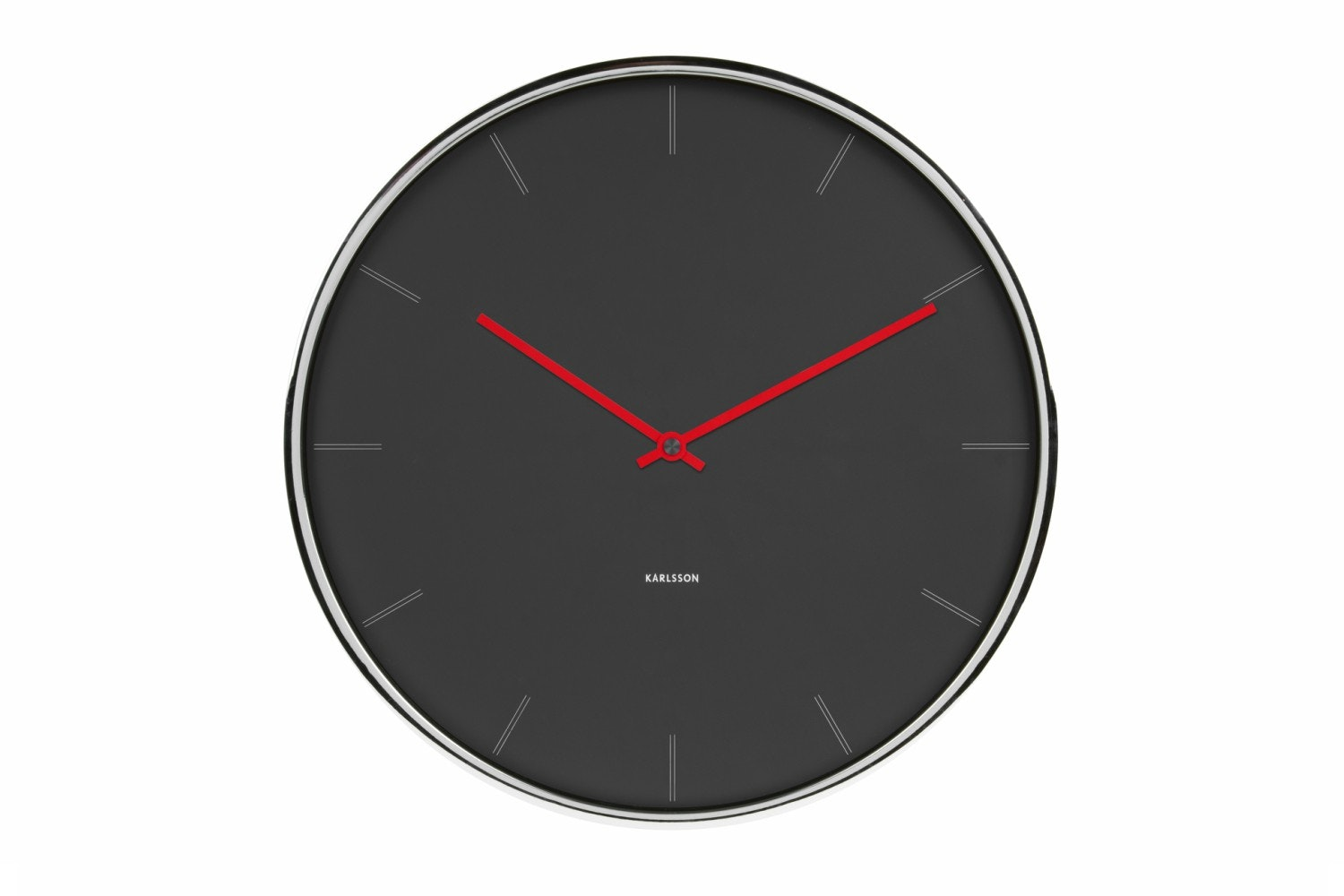 Thin Line Station Wall Clock | Dark Grey