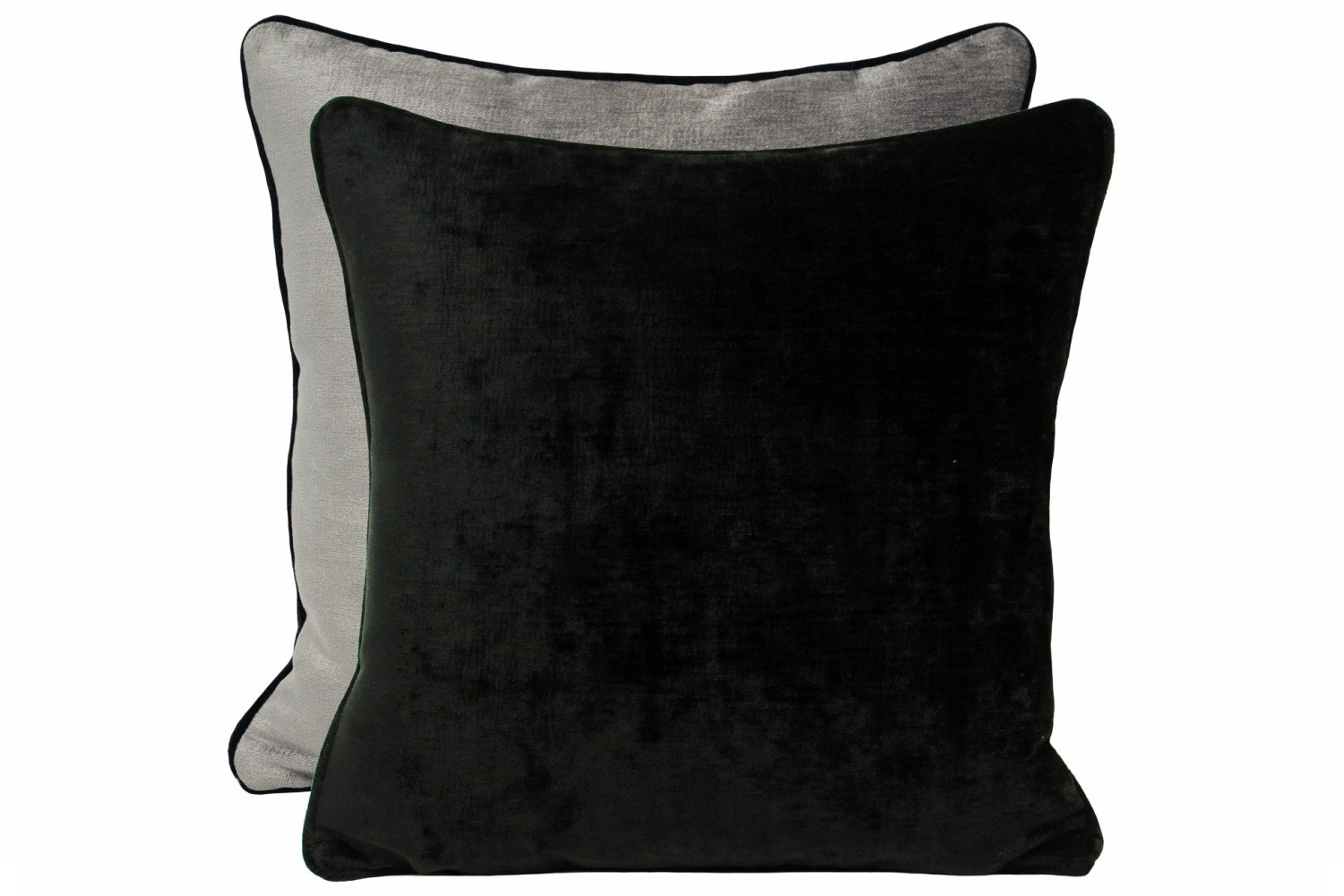 Mottram Cushion Ebony & Silver