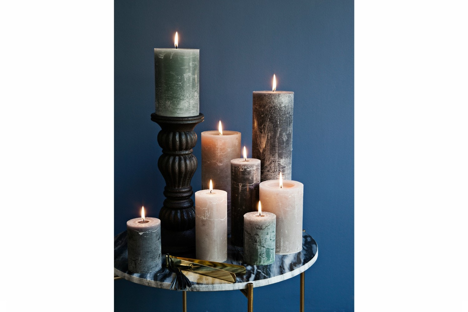 Dusty Purple Candle   7x15