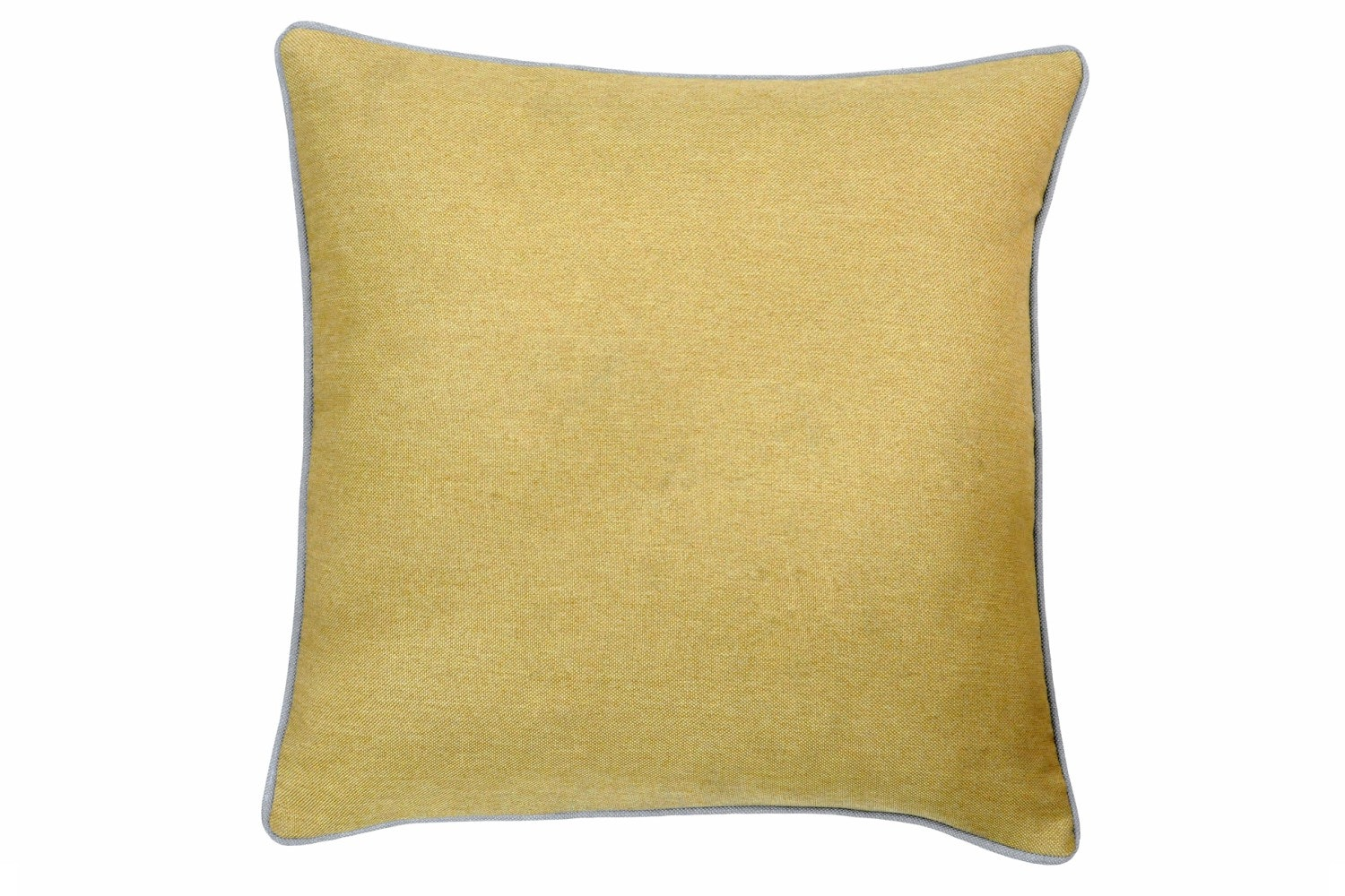 Bellucci Cushion | Ochre & Light Grey
