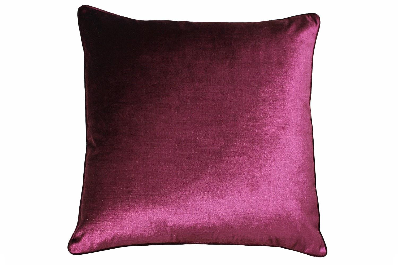 Luxe Velvet Cushion | Cranberry