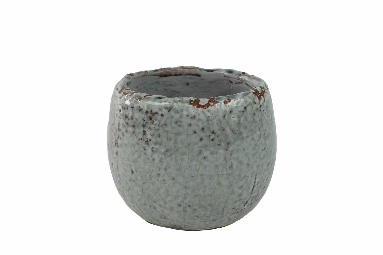 Small Glazed Kirsty Pot | Ice Blue