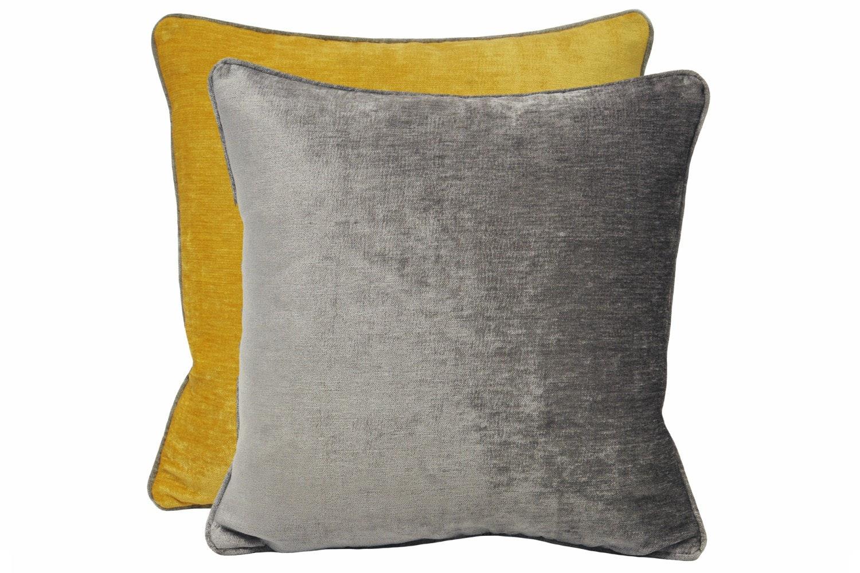 Mottram Cushion Silver & Ochre