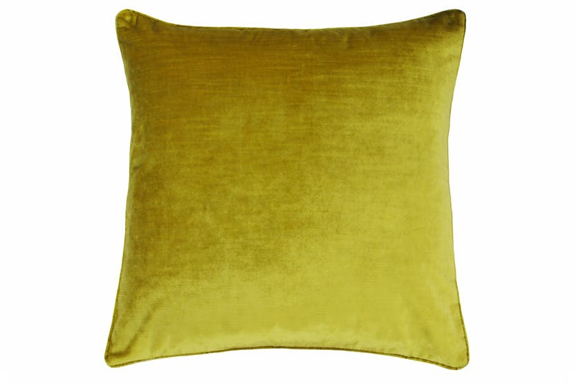 Luxe Velvet Cushion | Ochre