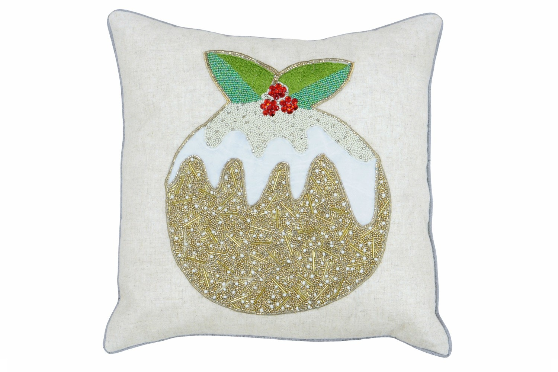 Advent Christmas Pudding Cushion