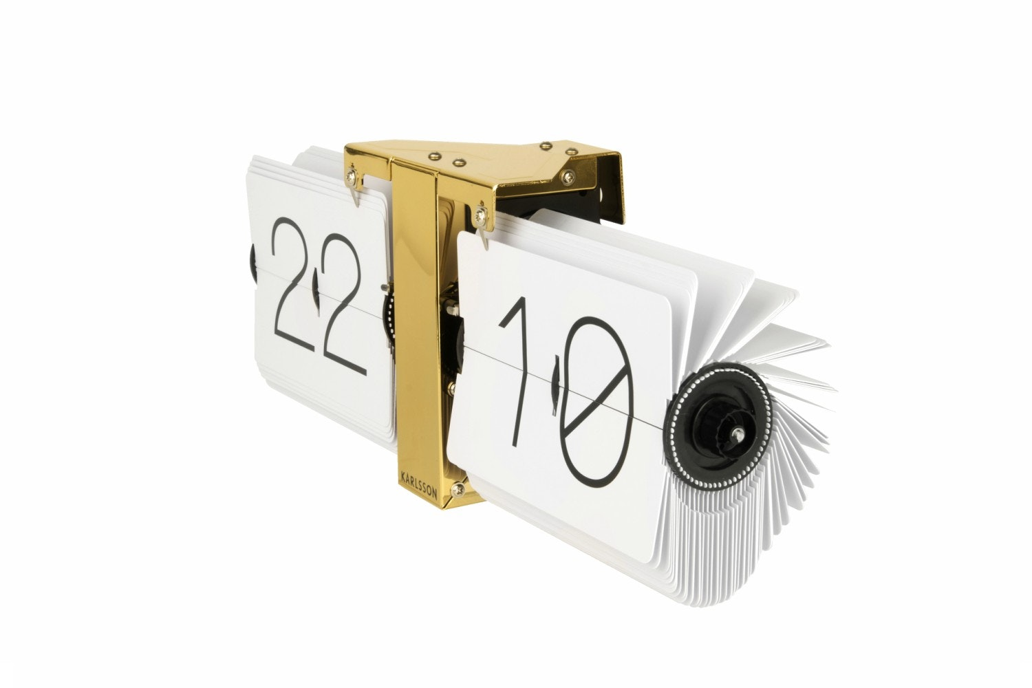 White Brass Stand Flip Clock | No Case