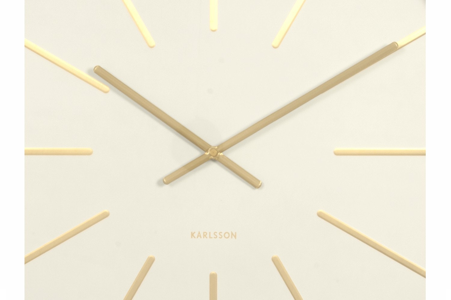 Maxiemus Brass Station Wall Clock | White