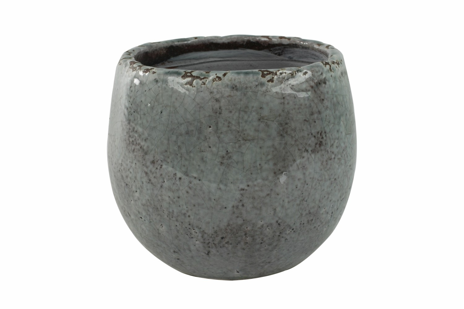 Medium Glazed Kirsty Pot | Ice Blue