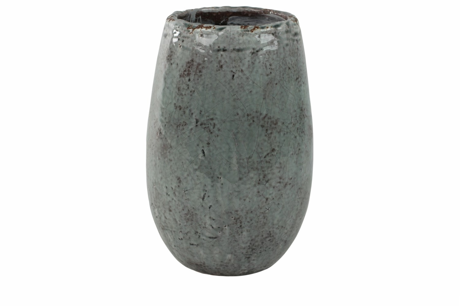 Tall Glazed Kirsty Pot | Ice Blue