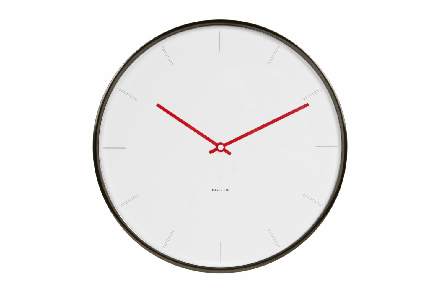 Thin Line Station Wall Clock |  White