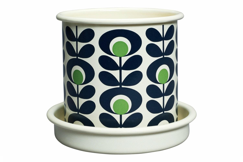 Orla Kiely - Spot Flower Oval Plant Pot