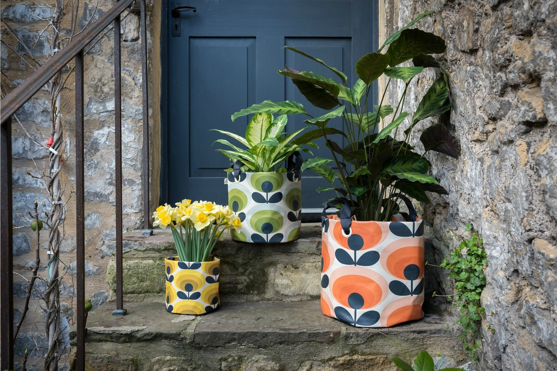Orla Kiely  - Fabric Plant Bag | Medium