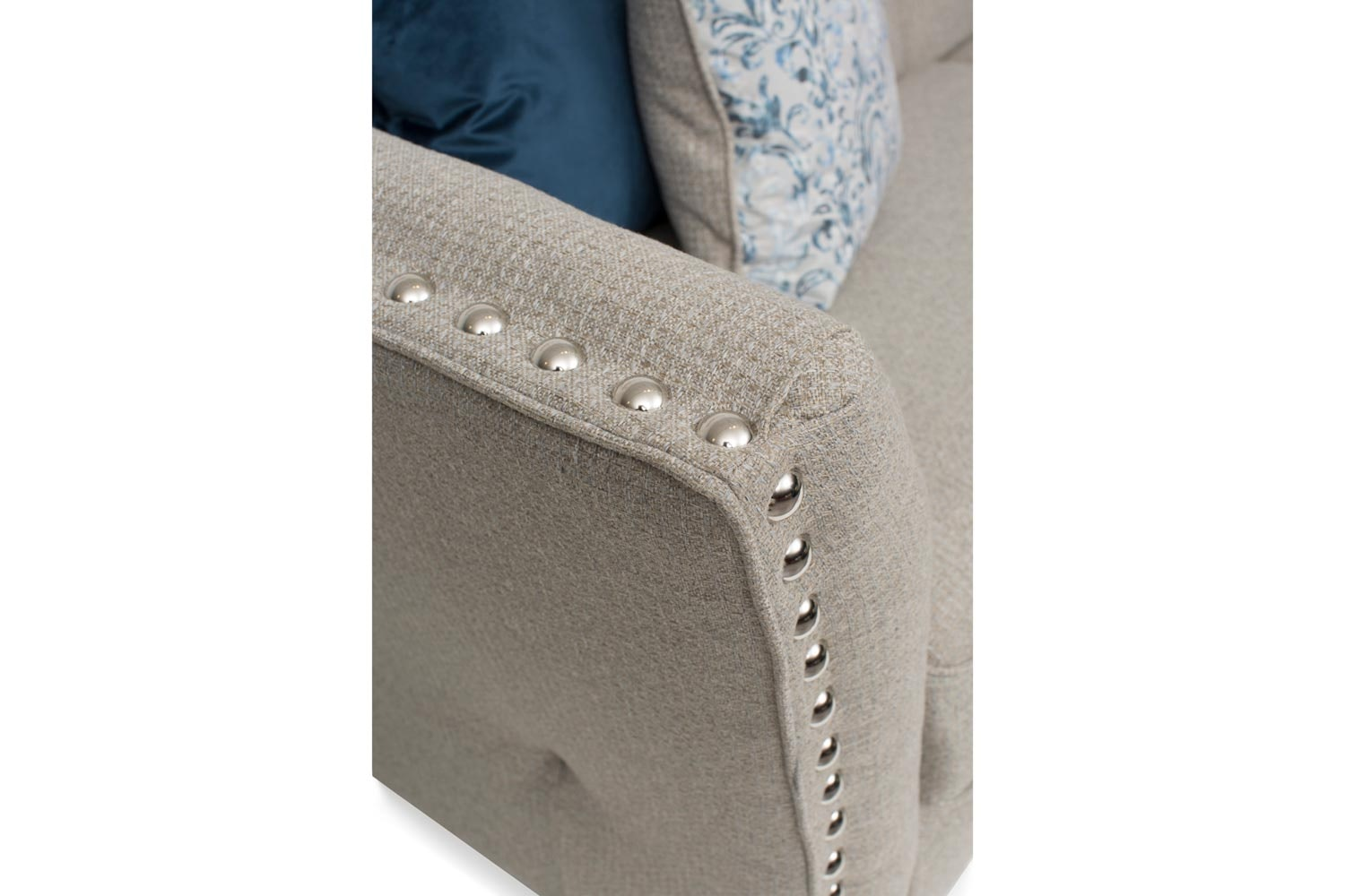 Simba Studded 4 Seater Split Sofa |  6 Colour Options