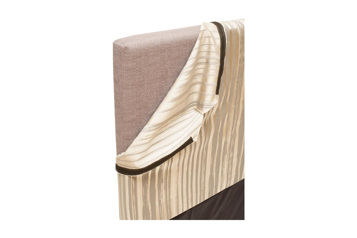 Abbey Headboard Cover |4Ft6 |Cotton Stripe Natural