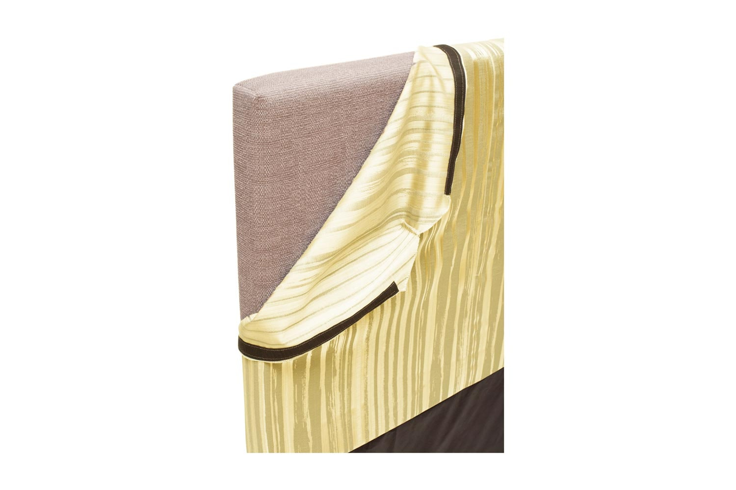 Abbey Headboard Cover |4Ft6 |Cotton Stripe Yellow