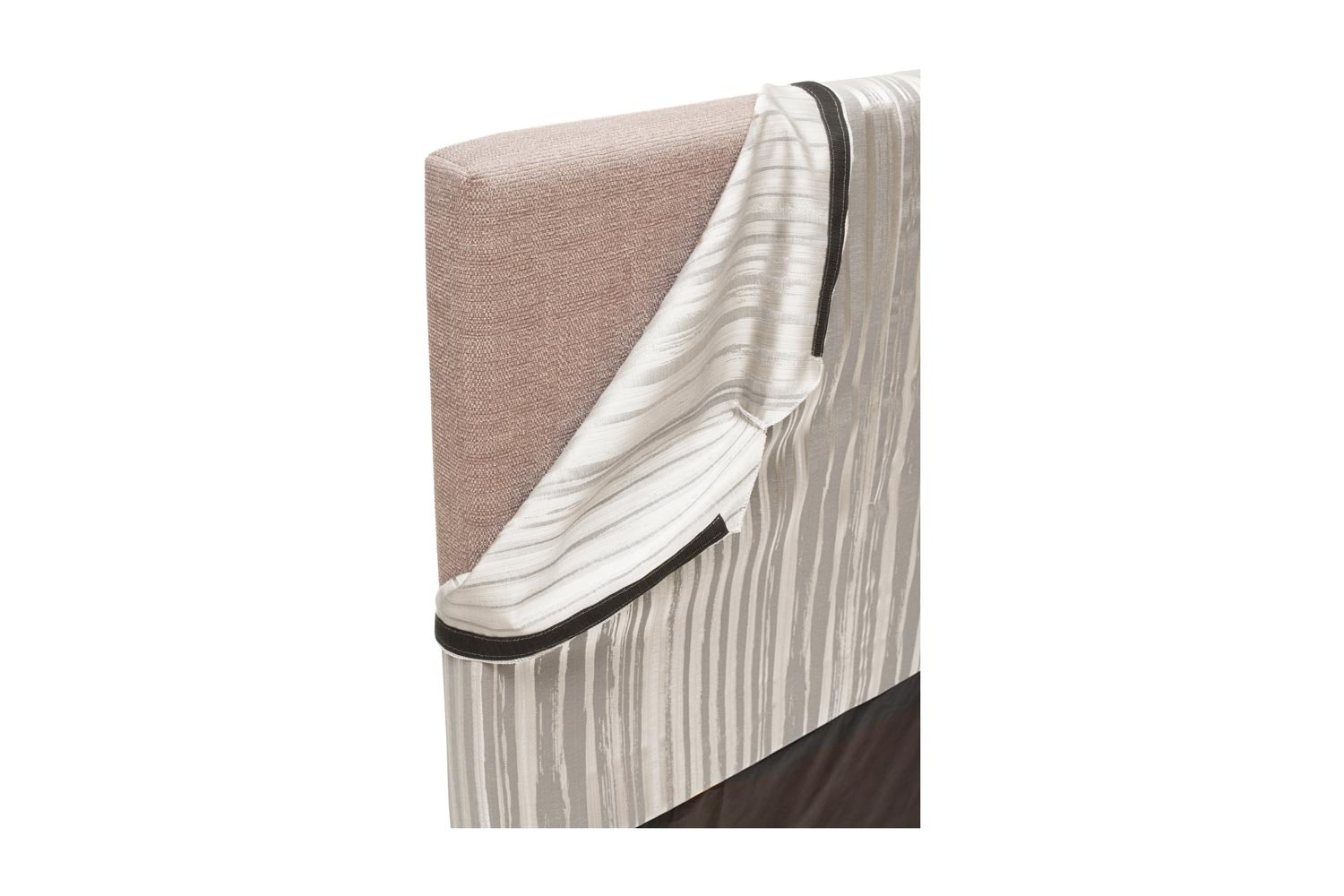 Abbey Headboard Cover |5Ft |Cotton Stripe Grey