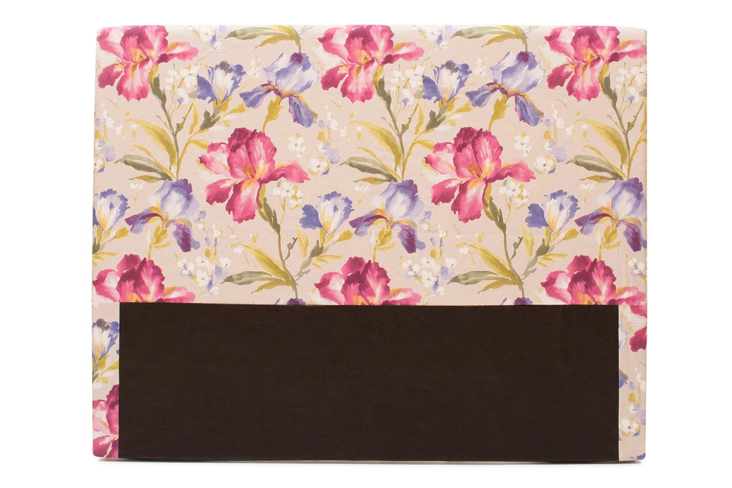 Abbey Headboard Cover  5Ft  Cotton Iris Pink